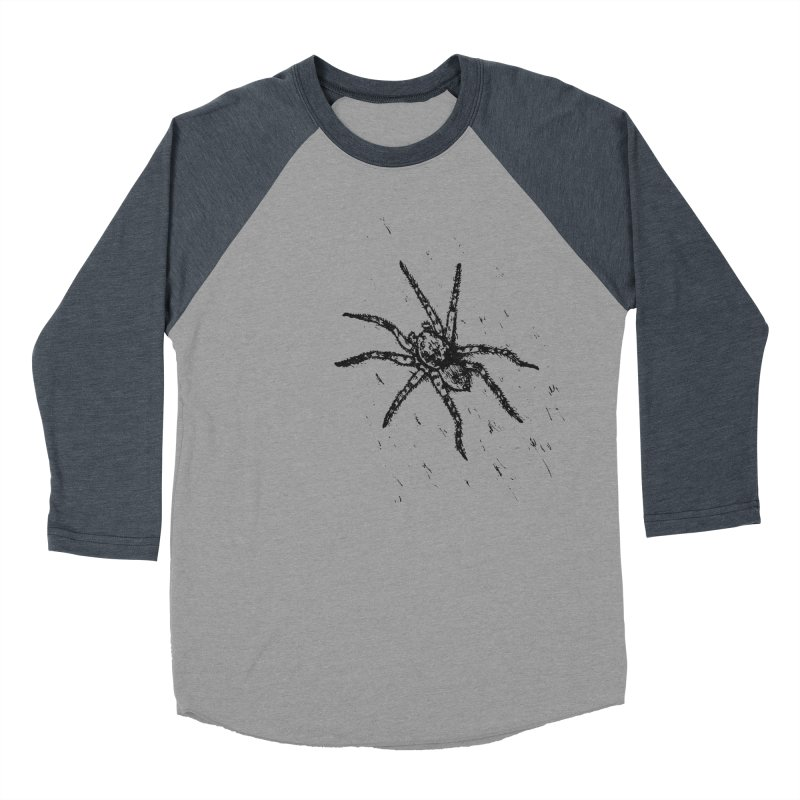 Wolf Spider Men's Baseball Triblend Longsleeve T-Shirt by sand paper octopi's Artist Shop