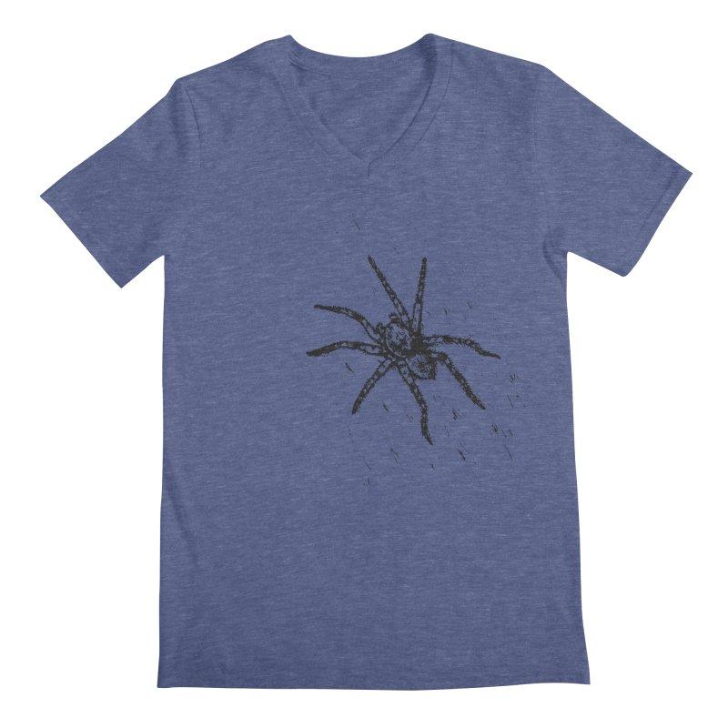 Wolf Spider Men's Regular V-Neck by sand paper octopi's Artist Shop