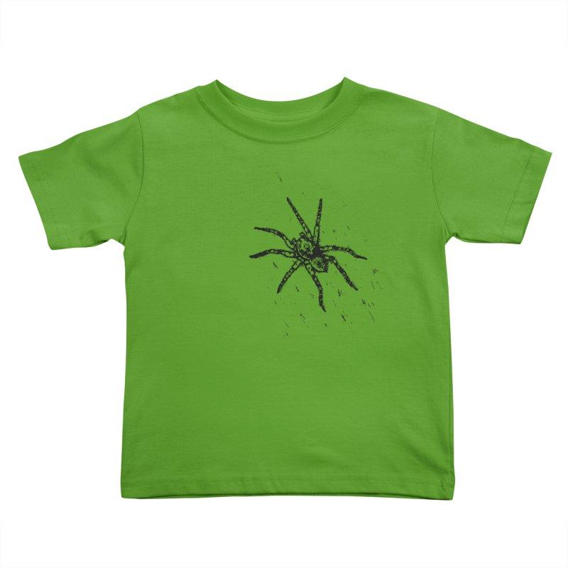 Wolf Spider Kids Toddler T-Shirt by sand paper octopi's Artist Shop