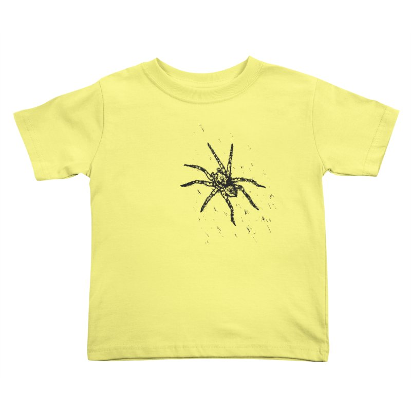 Wolf Spider Kids Toddler T-Shirt by sand paper octopi's Artist Shop