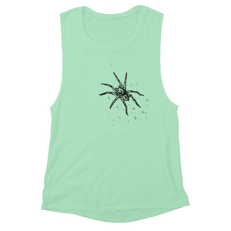 Wolf Spider Women's Muscle Tank by sand paper octopi's Artist Shop