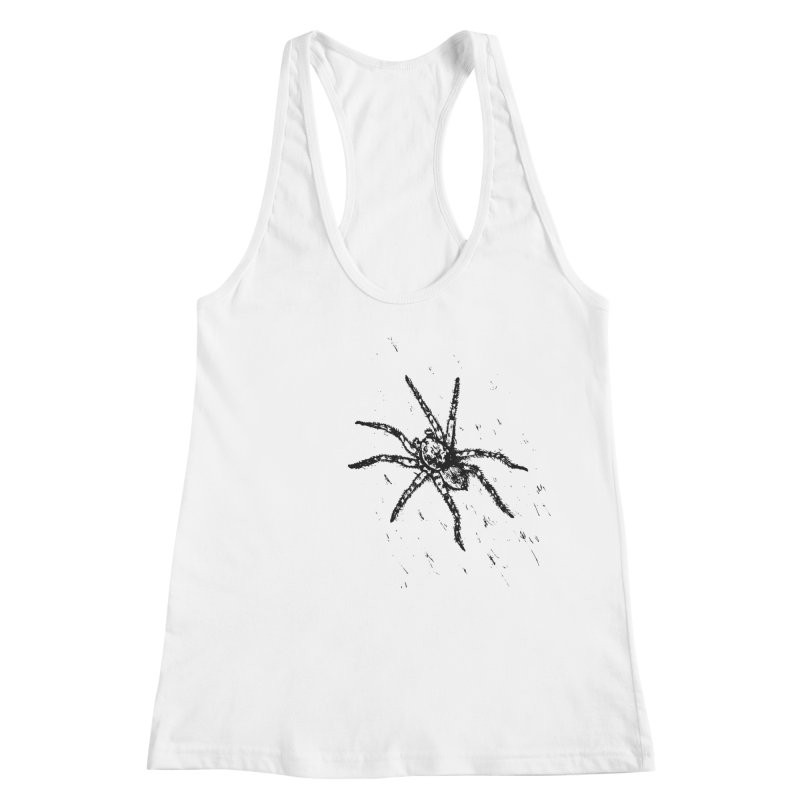 Wolf Spider Women's Racerback Tank by sand paper octopi's Artist Shop