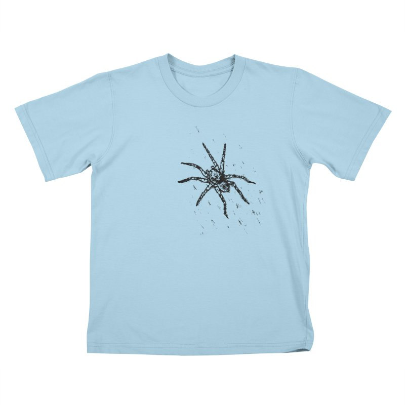 Wolf Spider Kids T-Shirt by sand paper octopi's Artist Shop