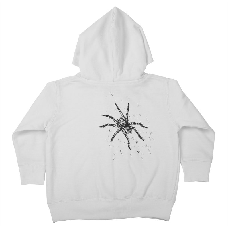 Wolf Spider Kids Toddler Zip-Up Hoody by sand paper octopi's Artist Shop
