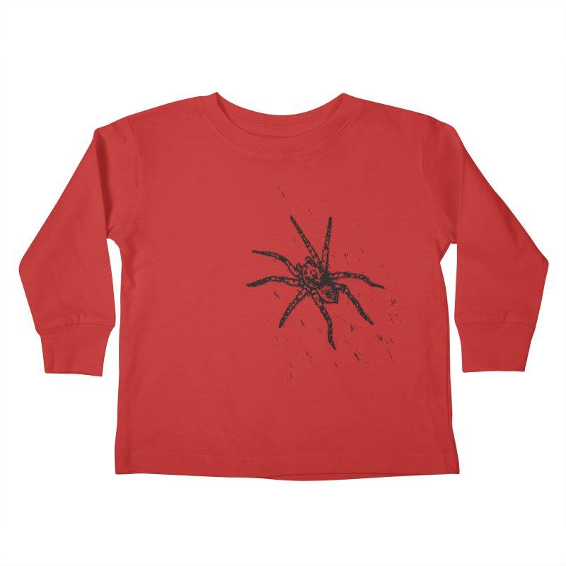 Wolf Spider Kids Toddler Longsleeve T-Shirt by sand paper octopi's Artist Shop