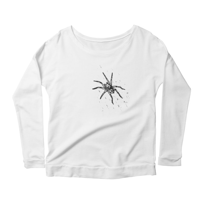 Wolf Spider Women's Scoop Neck Longsleeve T-Shirt by sand paper octopi's Artist Shop