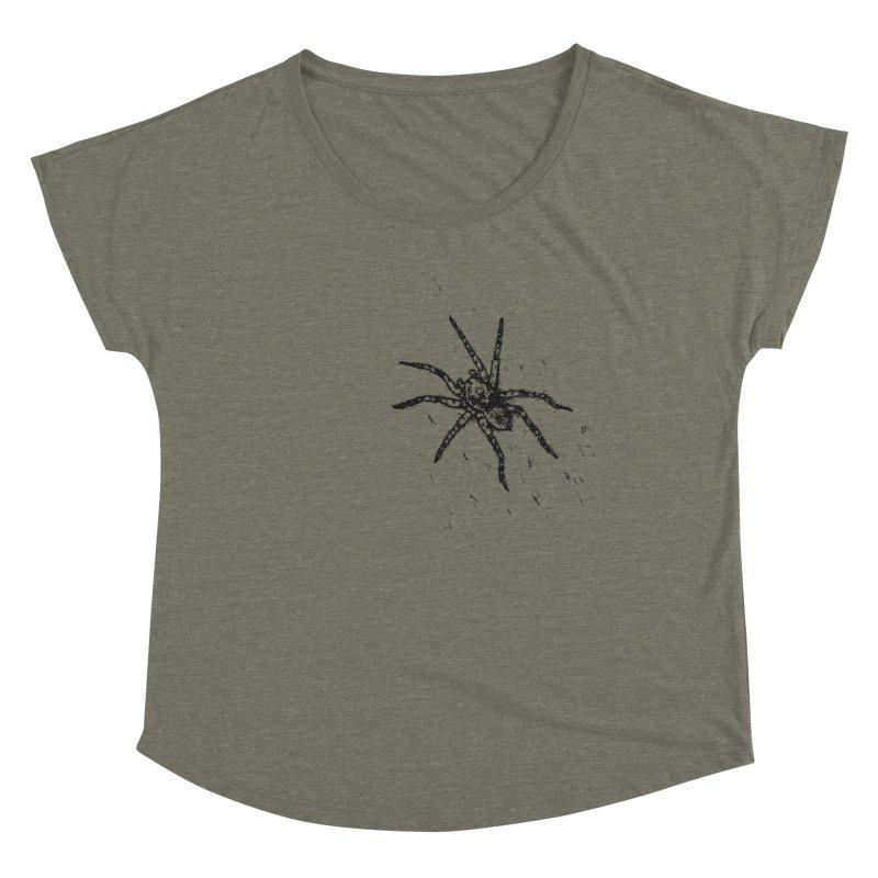 Wolf Spider Women's Scoop Neck by sand paper octopi's Artist Shop
