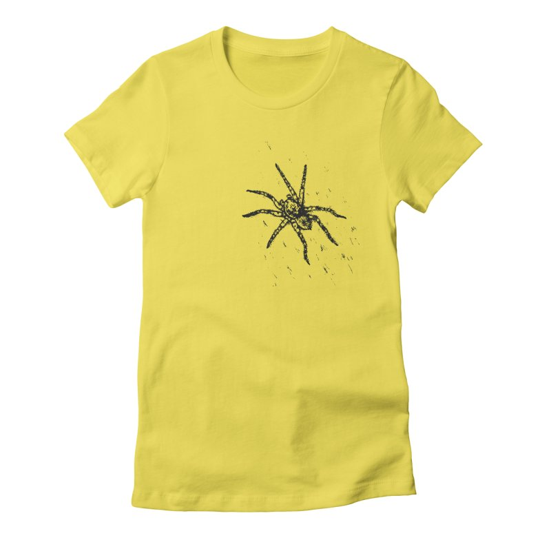 Wolf Spider Women's Fitted T-Shirt by sand paper octopi's Artist Shop