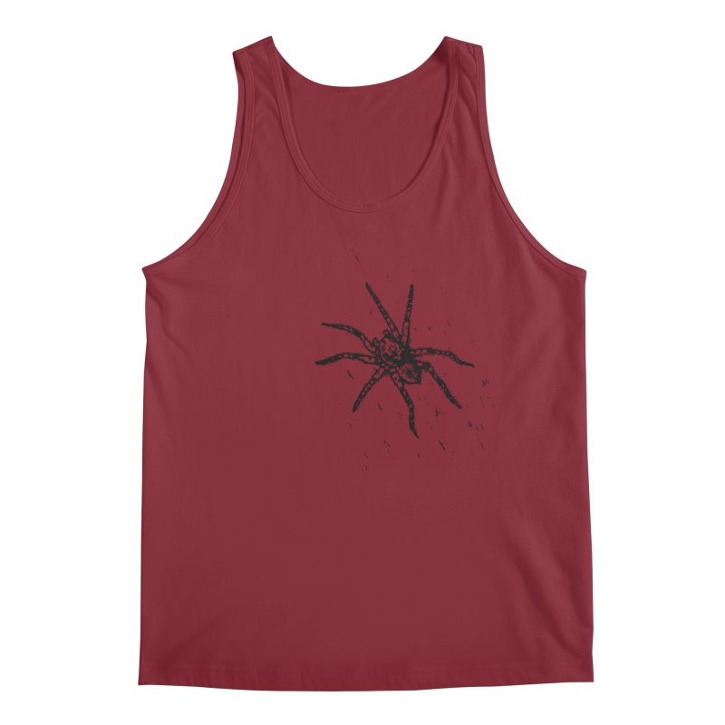 Wolf Spider Men's Regular Tank by sand paper octopi's Artist Shop