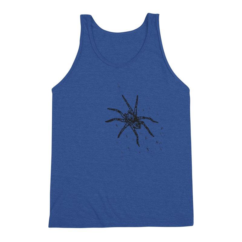 Wolf Spider Men's Triblend Tank by sand paper octopi's Artist Shop