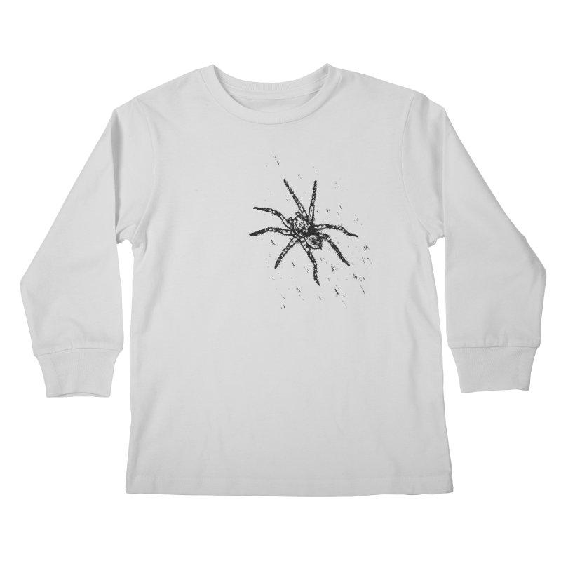 Wolf Spider Kids Longsleeve T-Shirt by sand paper octopi's Artist Shop