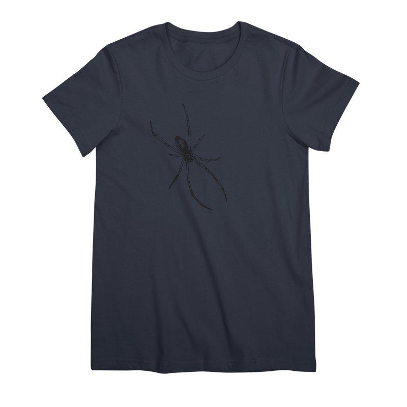 Brown Widow Women's Premium T-Shirt by sand paper octopi's Artist Shop