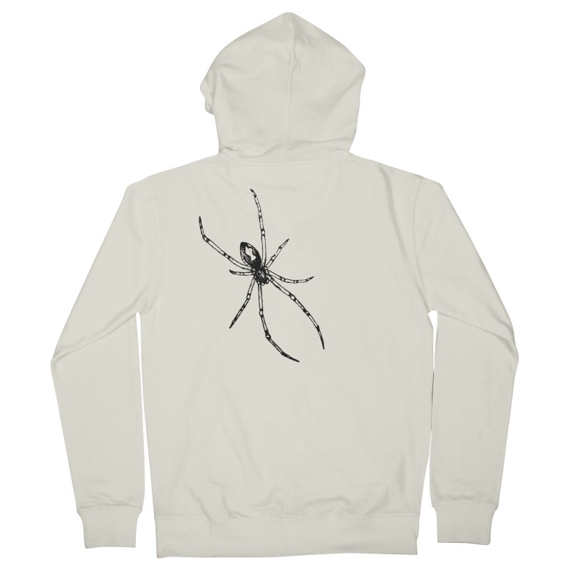 Brown Widow Men's French Terry Zip-Up Hoody by sand paper octopi's Artist Shop