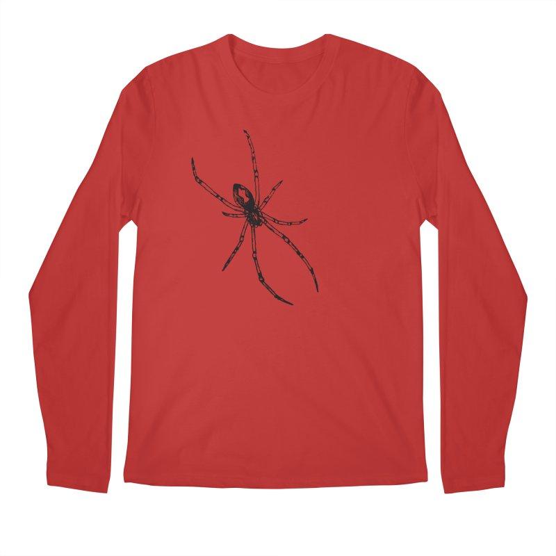 Brown Widow Men's Regular Longsleeve T-Shirt by sand paper octopi's Artist Shop