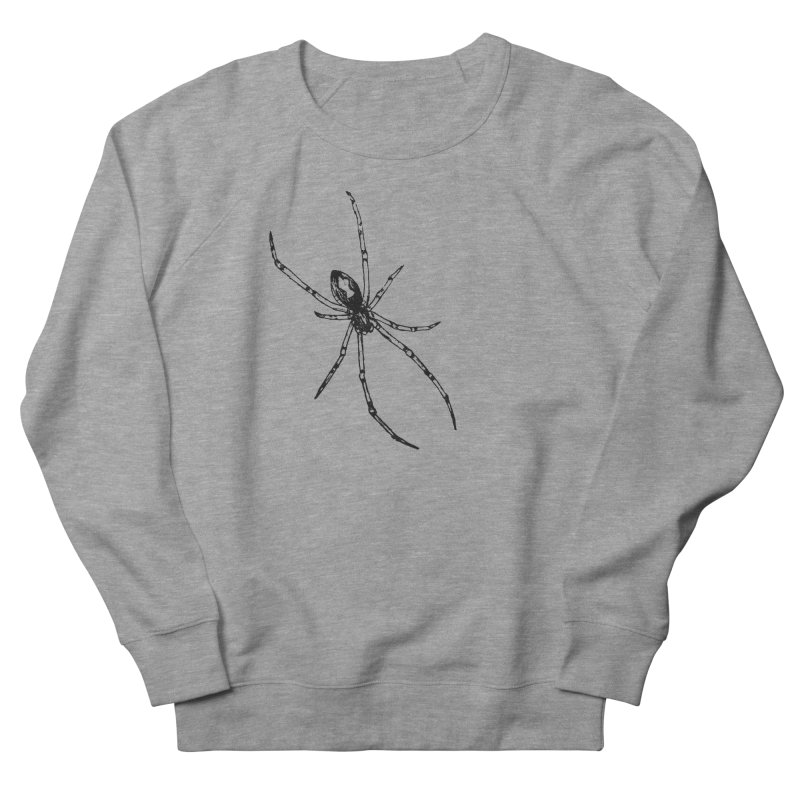 Brown Widow Women's French Terry Sweatshirt by sand paper octopi's Artist Shop