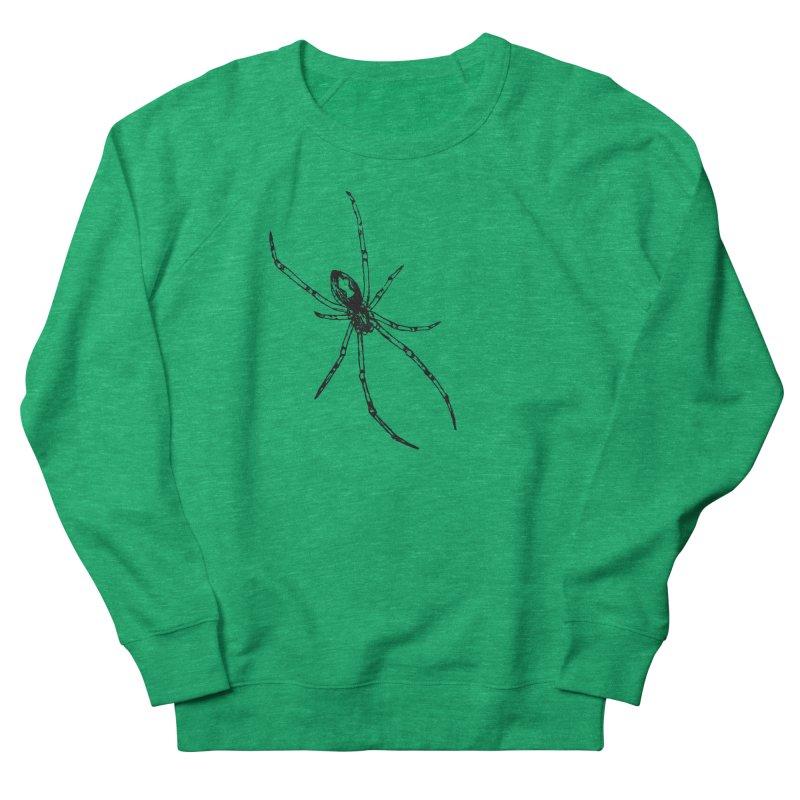 Brown Widow Men's French Terry Sweatshirt by sand paper octopi's Artist Shop