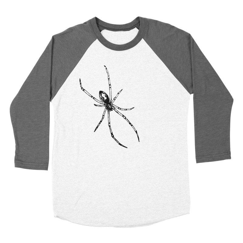 Brown Widow Men's Baseball Triblend Longsleeve T-Shirt by sand paper octopi's Artist Shop