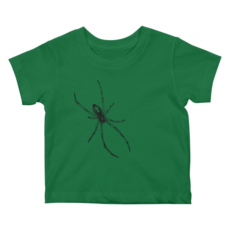 Brown Widow Kids Baby T-Shirt by sand paper octopi's Artist Shop