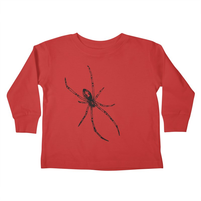 Brown Widow Kids Toddler Longsleeve T-Shirt by sand paper octopi's Artist Shop
