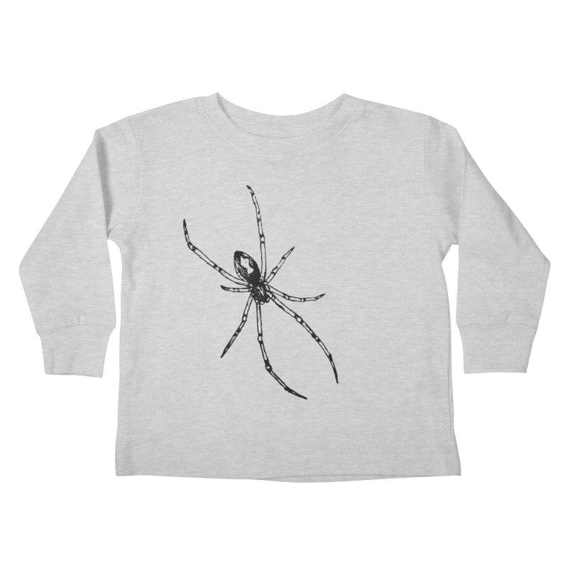 Brown Widow Kids Toddler Longsleeve T-Shirt by sand paper octopi's Artist Shop