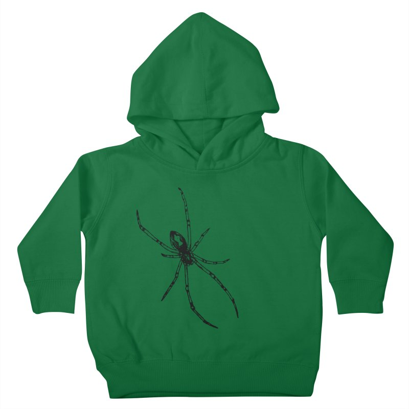 Brown Widow Kids Toddler Pullover Hoody by sand paper octopi's Artist Shop