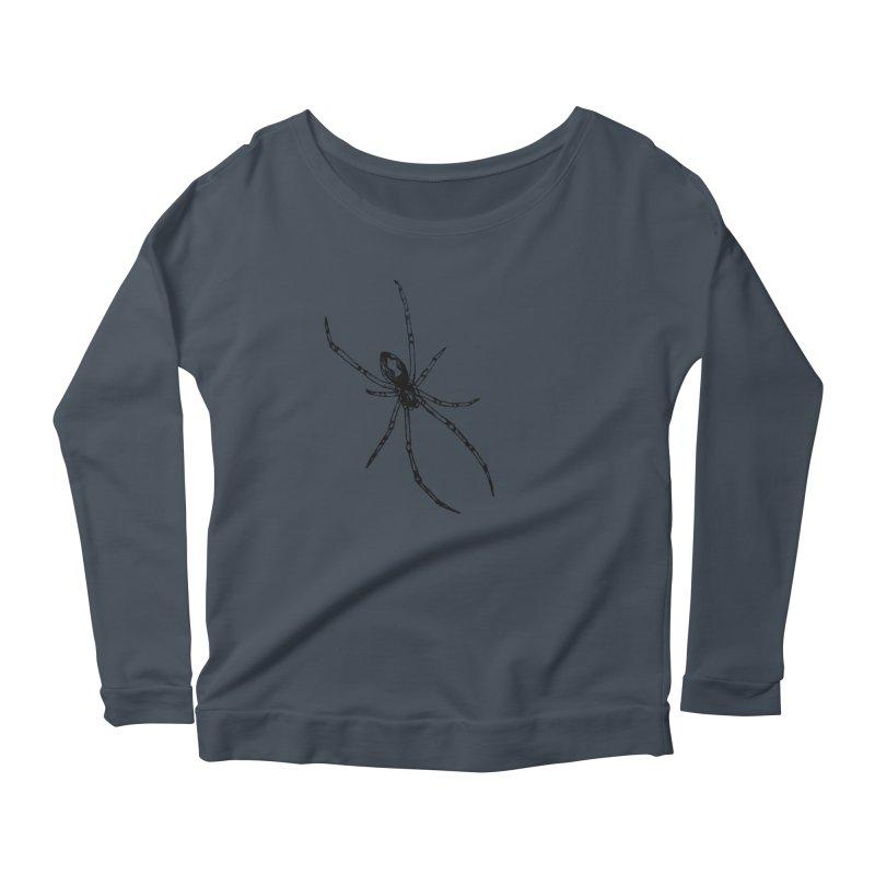Brown Widow Women's Scoop Neck Longsleeve T-Shirt by sand paper octopi's Artist Shop
