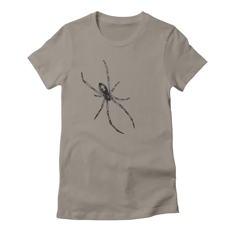 Brown Widow Women's Fitted T-Shirt by sand paper octopi's Artist Shop