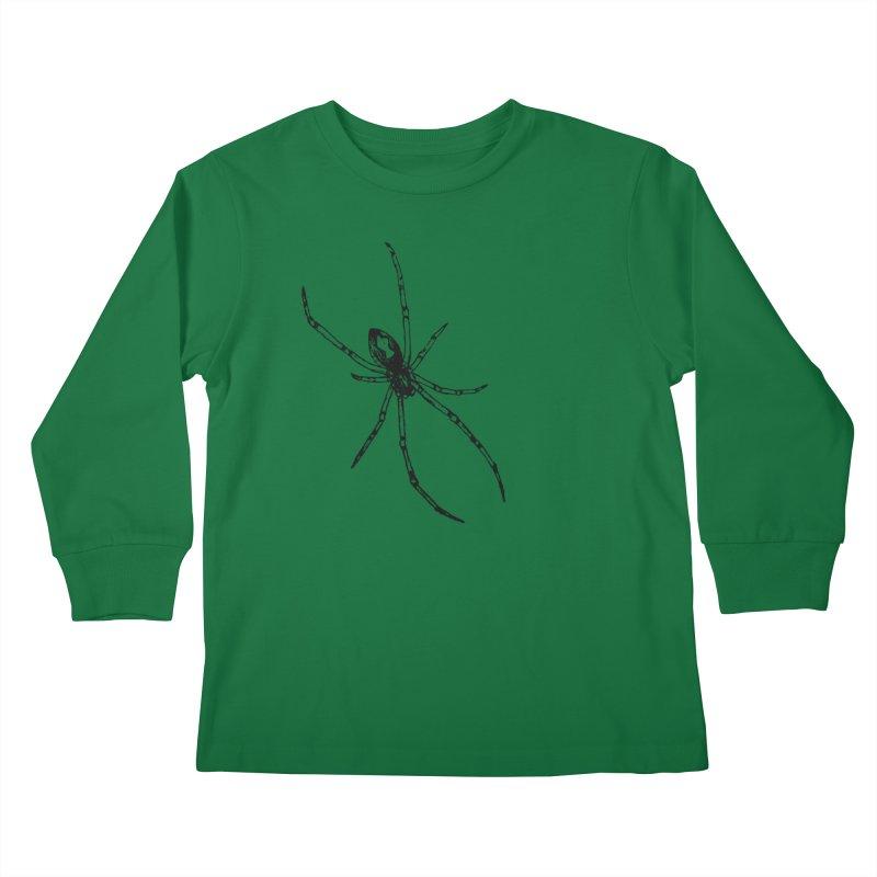 Brown Widow Kids Longsleeve T-Shirt by sand paper octopi's Artist Shop