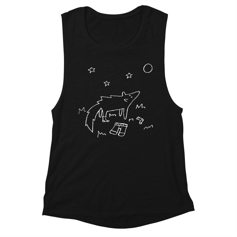 Werewolf Women's Muscle Tank by sand paper octopi's Artist Shop