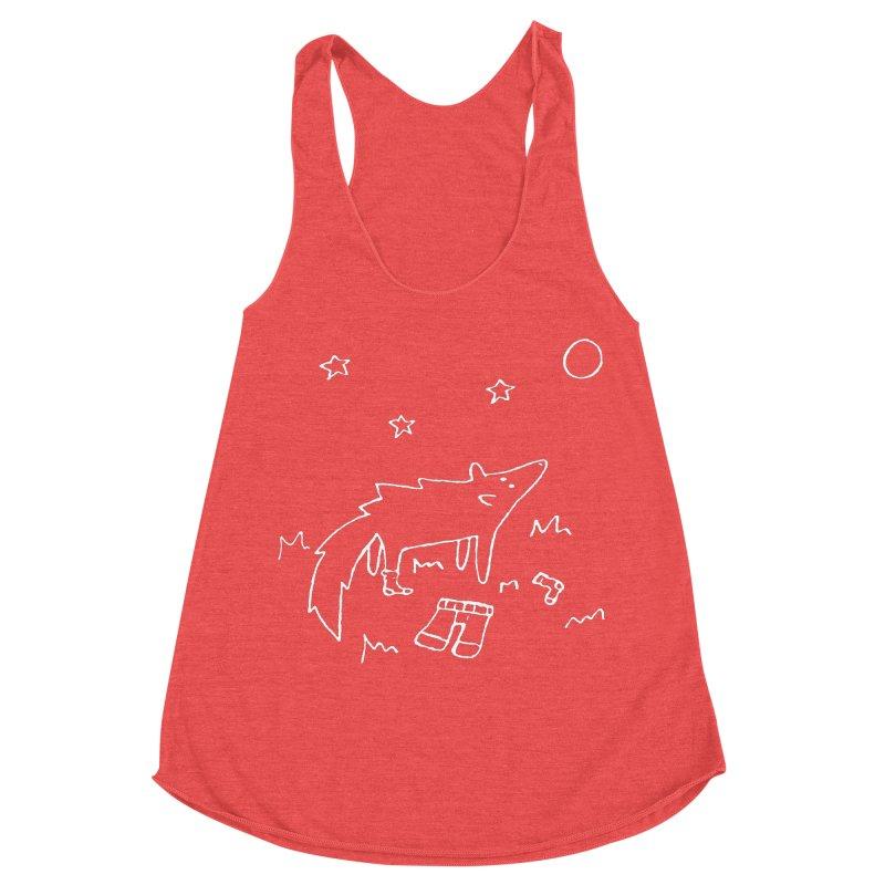 Werewolf Women's Racerback Triblend Tank by sand paper octopi's Artist Shop
