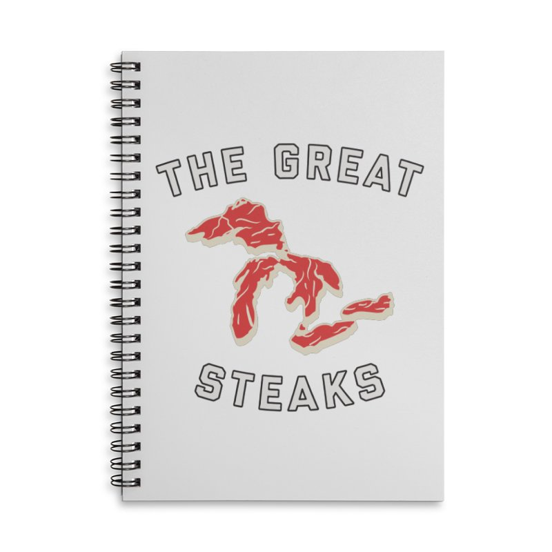 The Great Steaks Accessories Lined Spiral Notebook by Shop Sandusky Ink & Cloth
