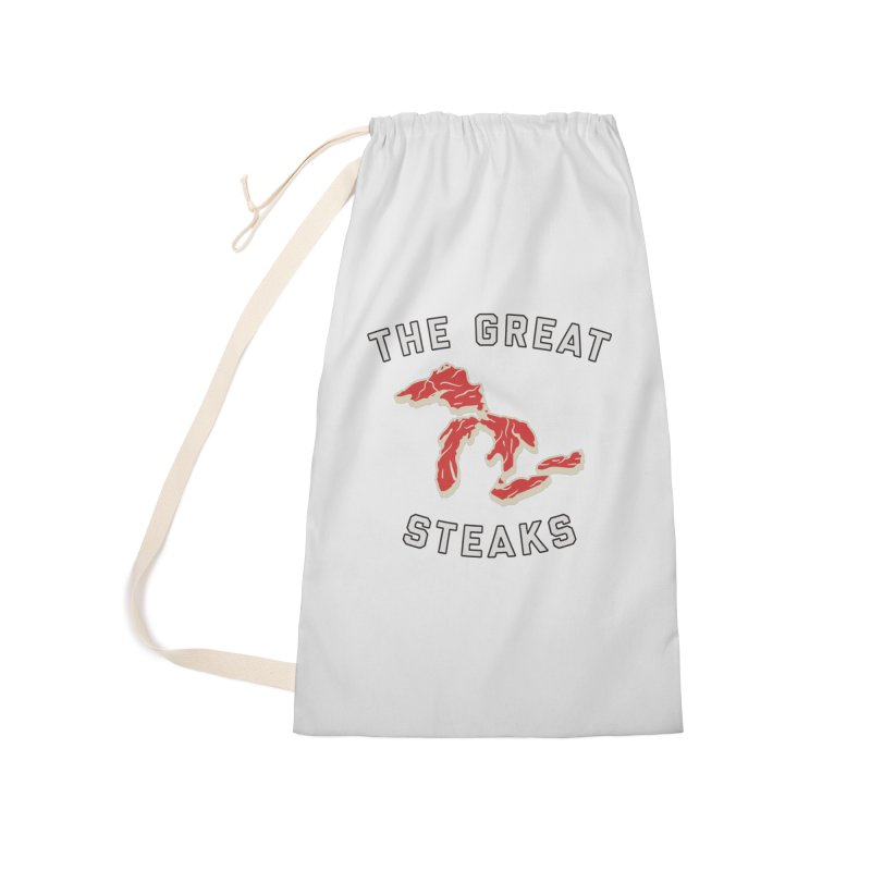 The Great Steaks Accessories Laundry Bag Bag by Shop Sandusky Ink & Cloth