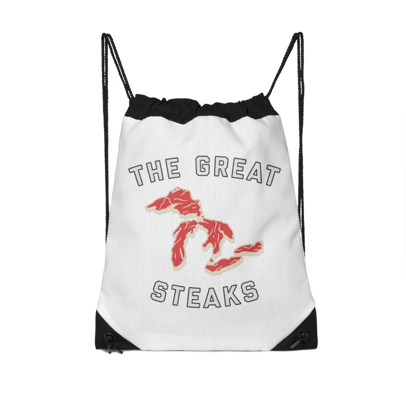 The Great Steaks Accessories Drawstring Bag Bag by Shop Sandusky Ink & Cloth