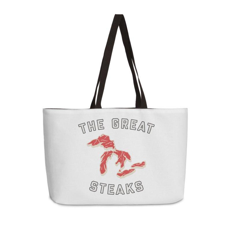 The Great Steaks Accessories Weekender Bag Bag by Shop Sandusky Ink & Cloth
