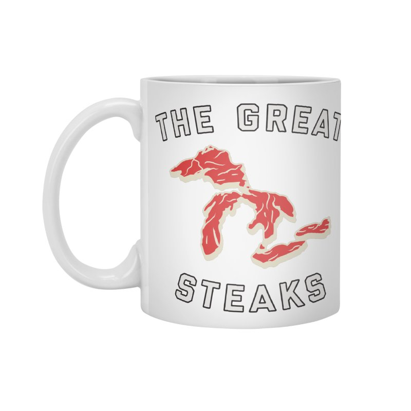 The Great Steaks in Standard Mug White by Shop Sandusky Ink & Cloth