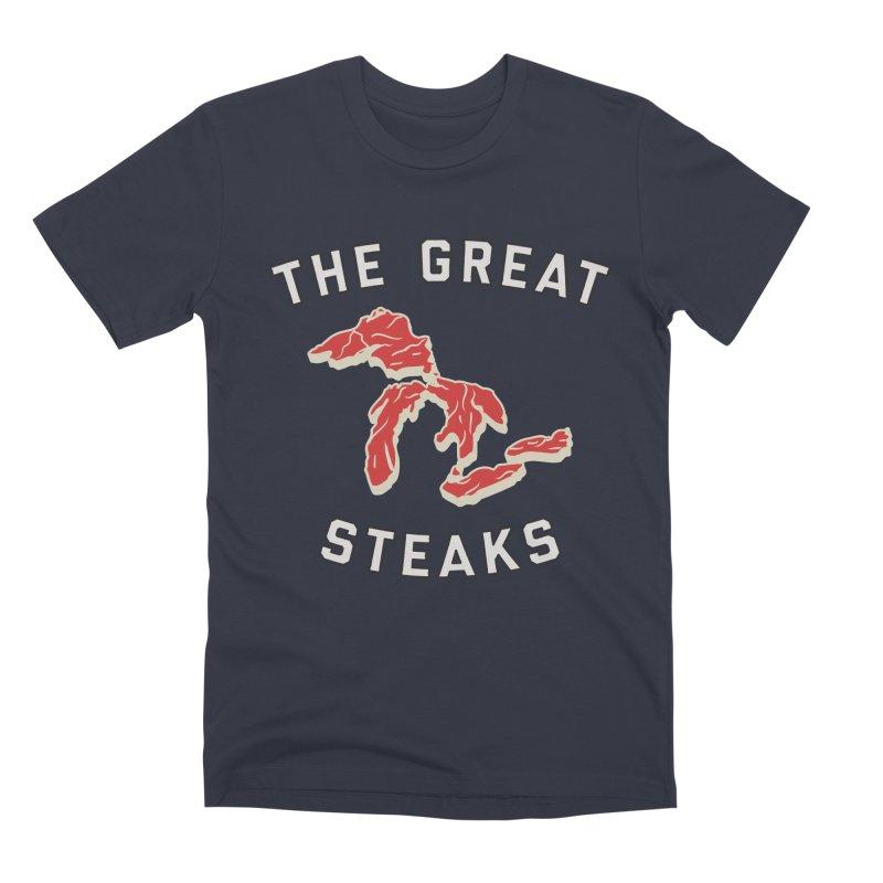 The Great Steaks Men's Premium T-Shirt by Shop Sandusky Ink & Cloth