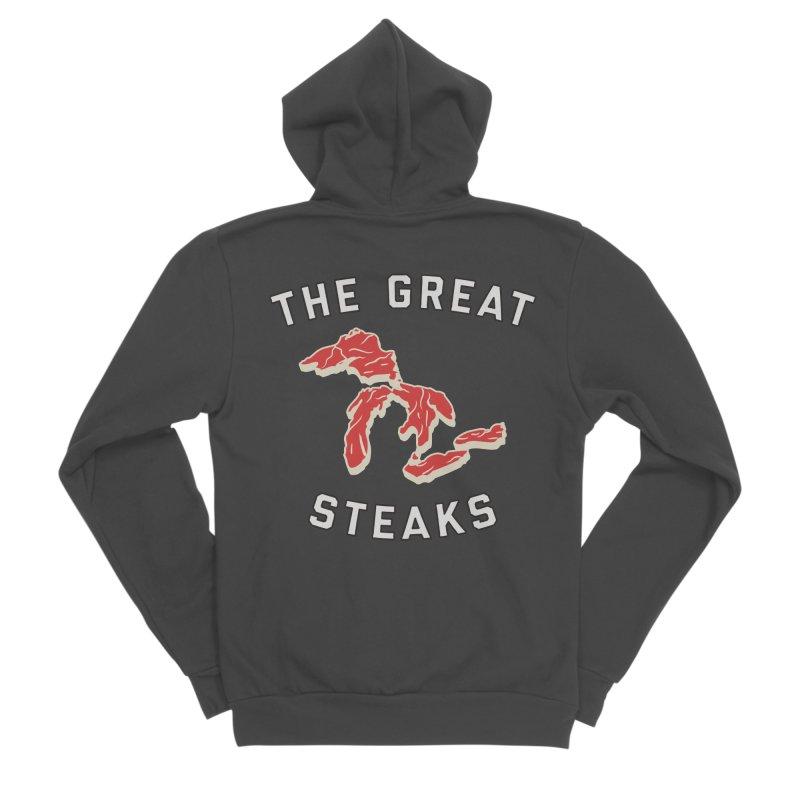 The Great Steaks Men's Sponge Fleece Zip-Up Hoody by Shop Sandusky Ink & Cloth