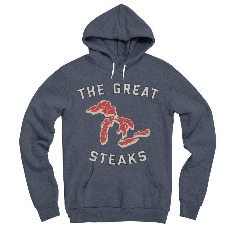 The Great Steaks Women's Sponge Fleece Pullover Hoody by Shop Sandusky Ink & Cloth