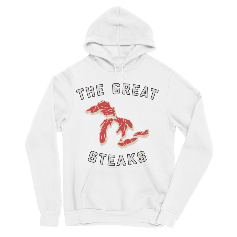 The Great Steaks Men's Sponge Fleece Pullover Hoody by Shop Sandusky Ink & Cloth