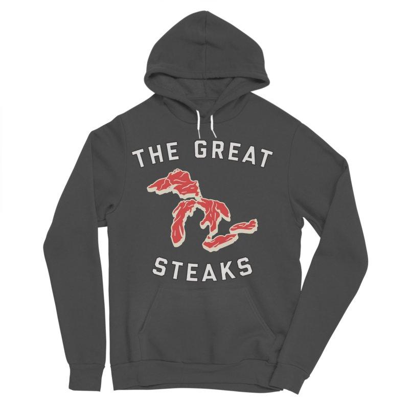 The Great Steaks Men's Sponge Fleece Pullover Hoody by Shop Sandusky Ink & Cloth