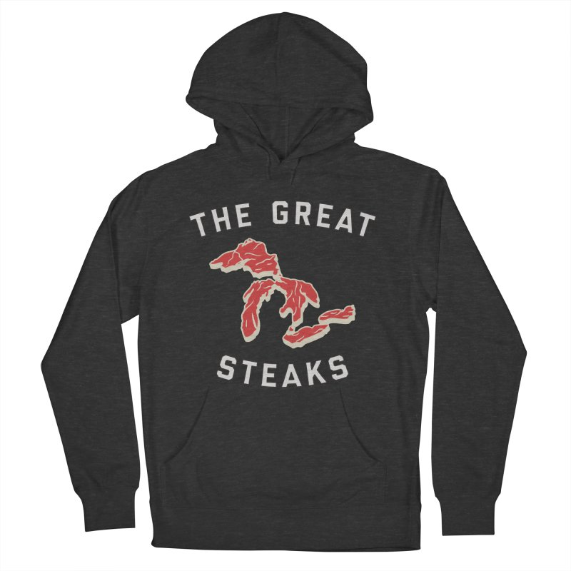 The Great Steaks Men's French Terry Pullover Hoody by Shop Sandusky Ink & Cloth