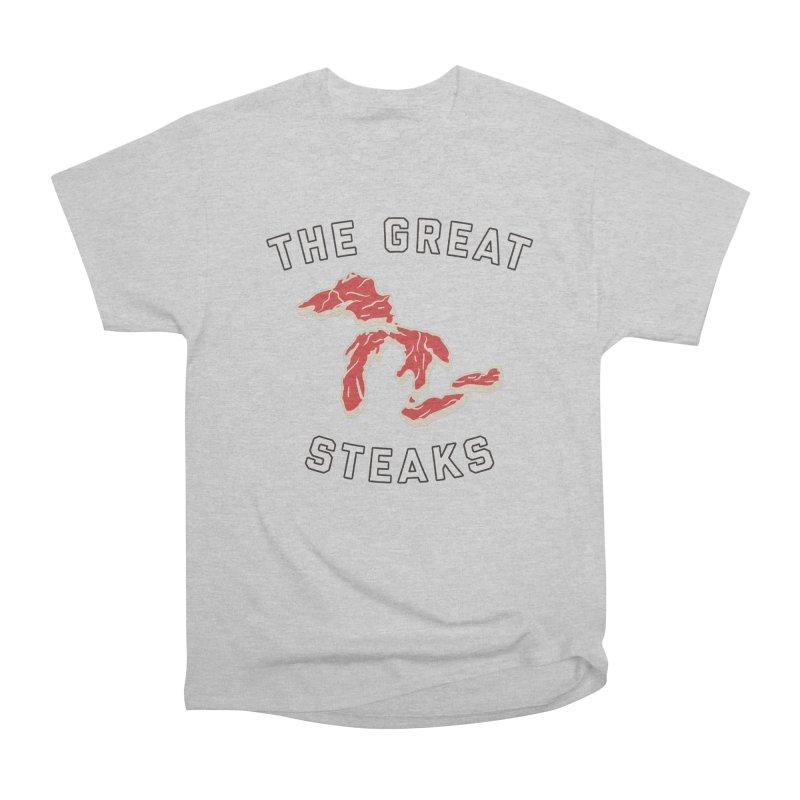 The Great Steaks Men's Heavyweight T-Shirt by Shop Sandusky Ink & Cloth