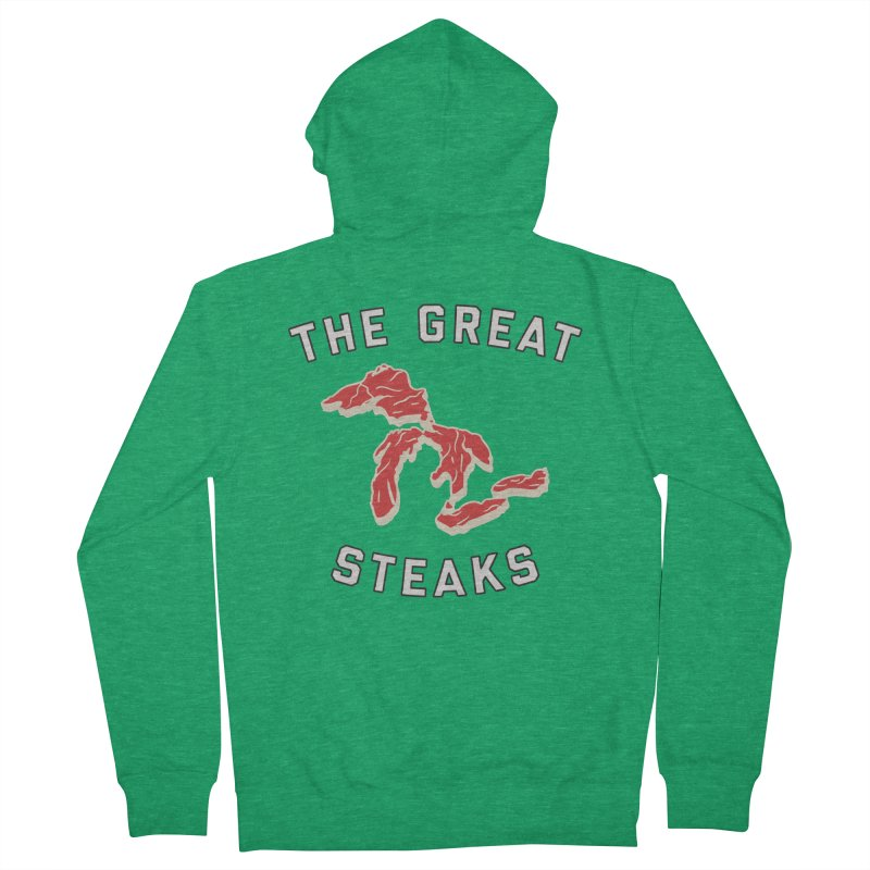 The Great Steaks Men's French Terry Zip-Up Hoody by Shop Sandusky Ink & Cloth