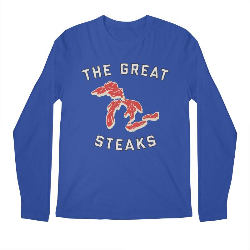 The Great Steaks Men's Regular Longsleeve T-Shirt by Shop Sandusky Ink & Cloth