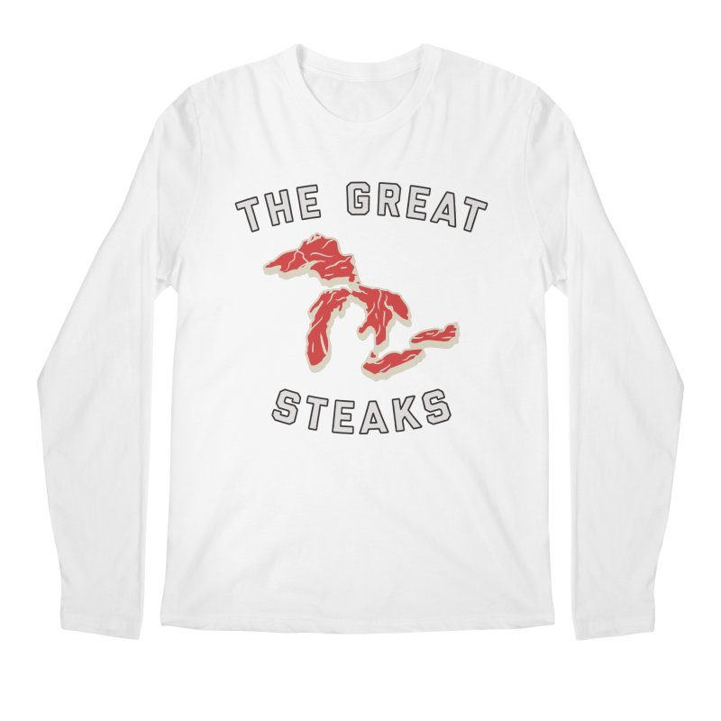 The Great Steaks Men's Regular Longsleeve T-Shirt by Shop Sandusky Ink & Cloth
