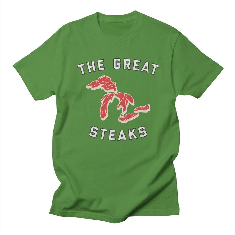 The Great Steaks Men's Regular T-Shirt by Shop Sandusky Ink & Cloth