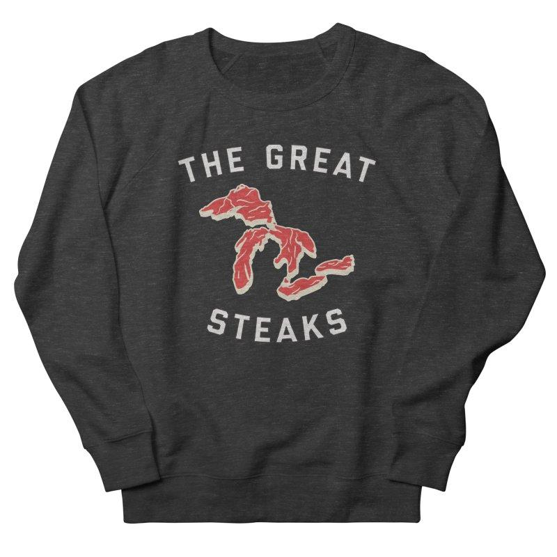 The Great Steaks Men's French Terry Sweatshirt by Shop Sandusky Ink & Cloth