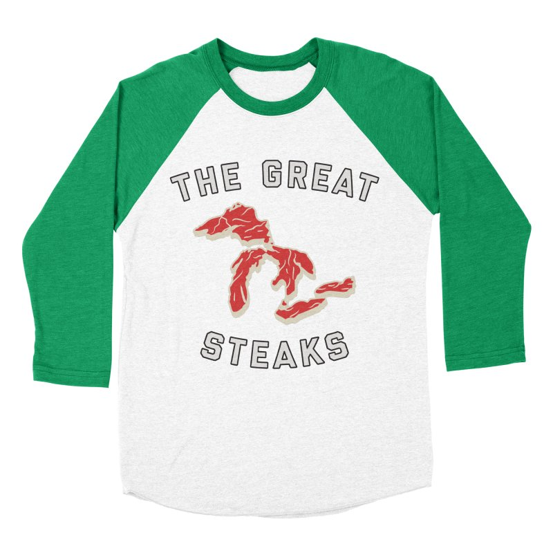 The Great Steaks Women's Baseball Triblend Longsleeve T-Shirt by Shop Sandusky Ink & Cloth