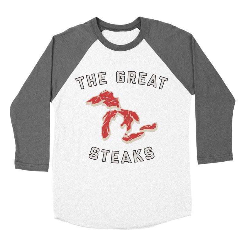 The Great Steaks Men's Baseball Triblend Longsleeve T-Shirt by Shop Sandusky Ink & Cloth