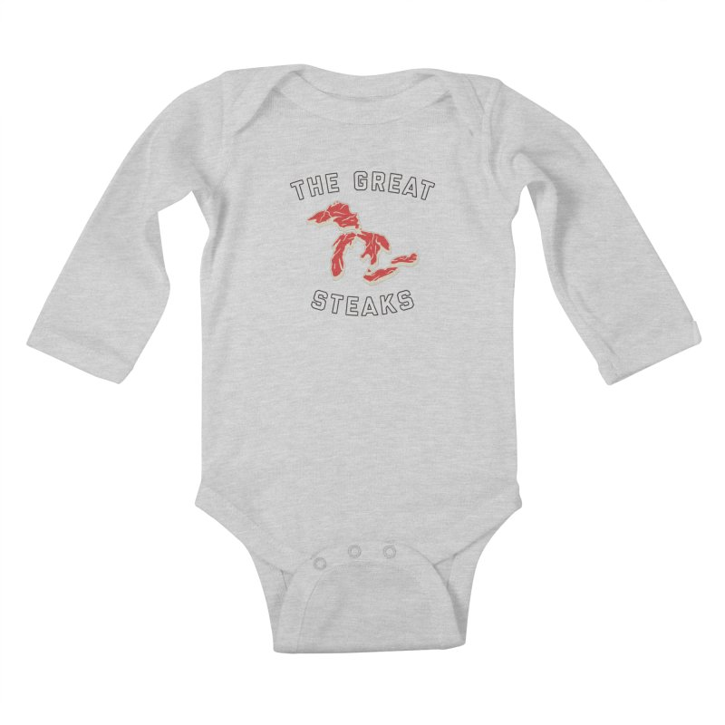 The Great Steaks Kids Baby Longsleeve Bodysuit by Shop Sandusky Ink & Cloth
